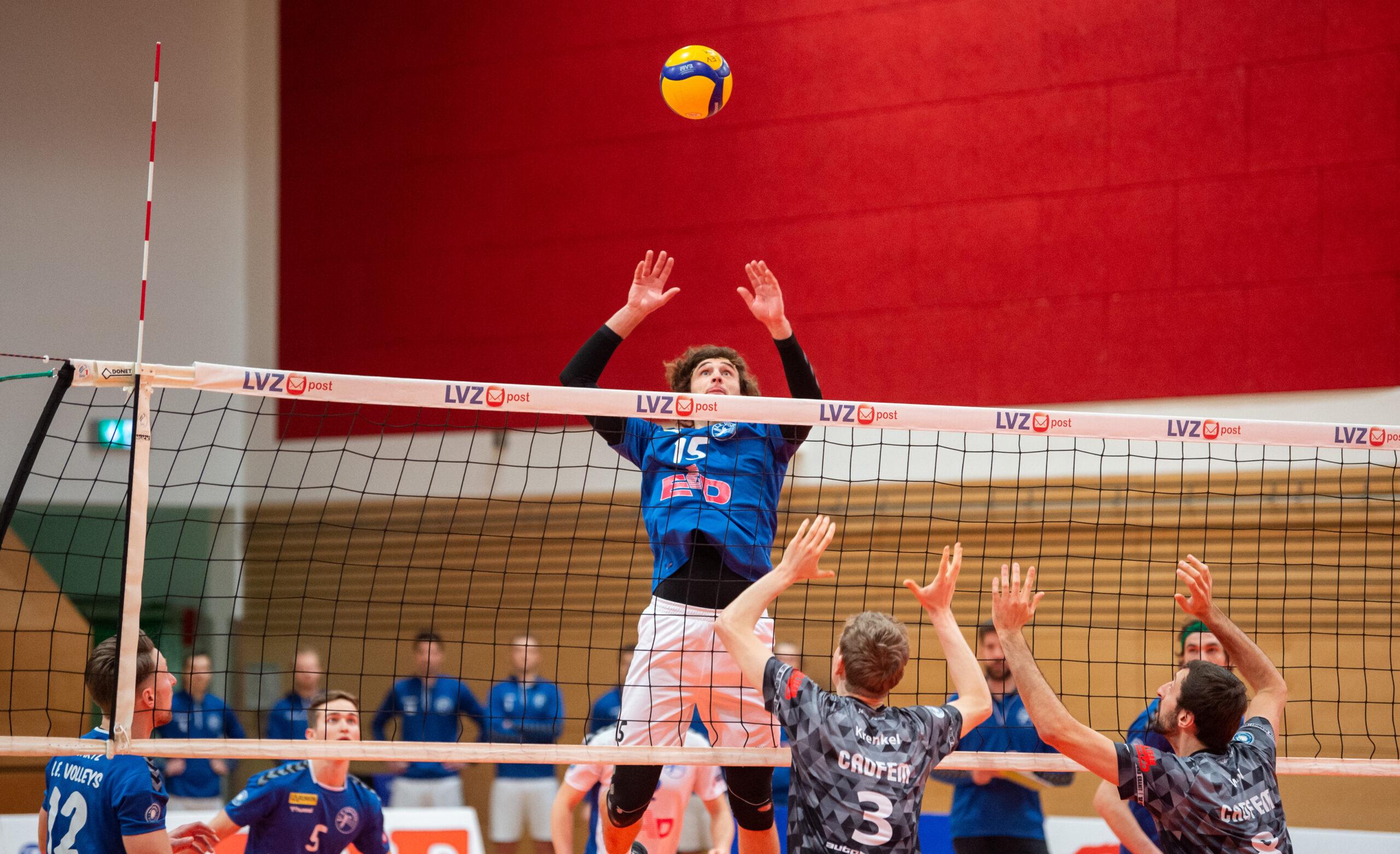 Henrik Kamphausen (Volleys #15)   L.E. Volleys Leipzig vs TSV Grafing, Volleyball, 2.Liga, 30.01.2021