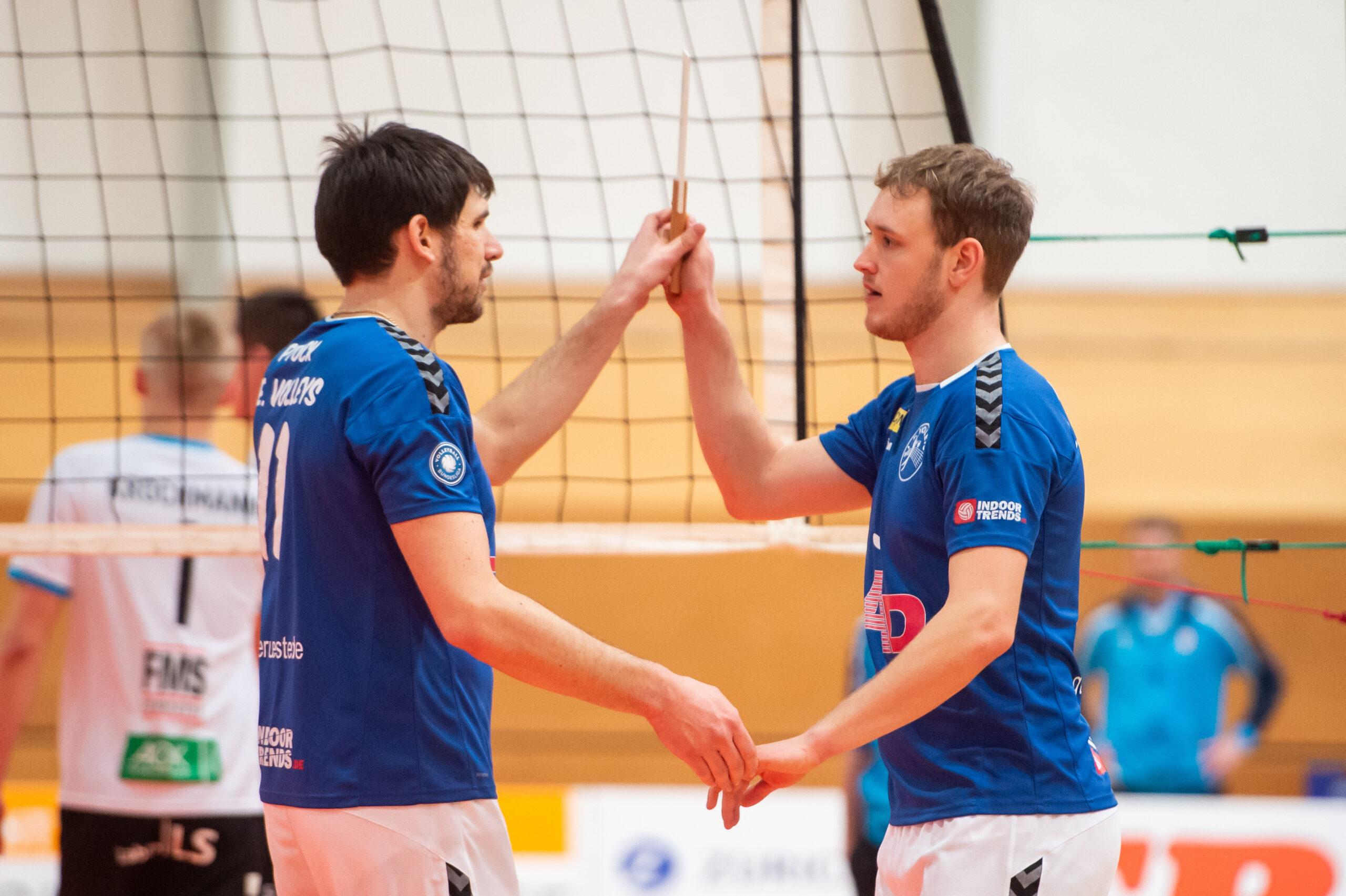 Jerome Ptock (Volleys #11), Niklas Karoos (Volleys #3)   L.E. Volleys Leipzig vs TV/DJK Hammelburg, Volleyball, 2.Liga, 20.03.2021
