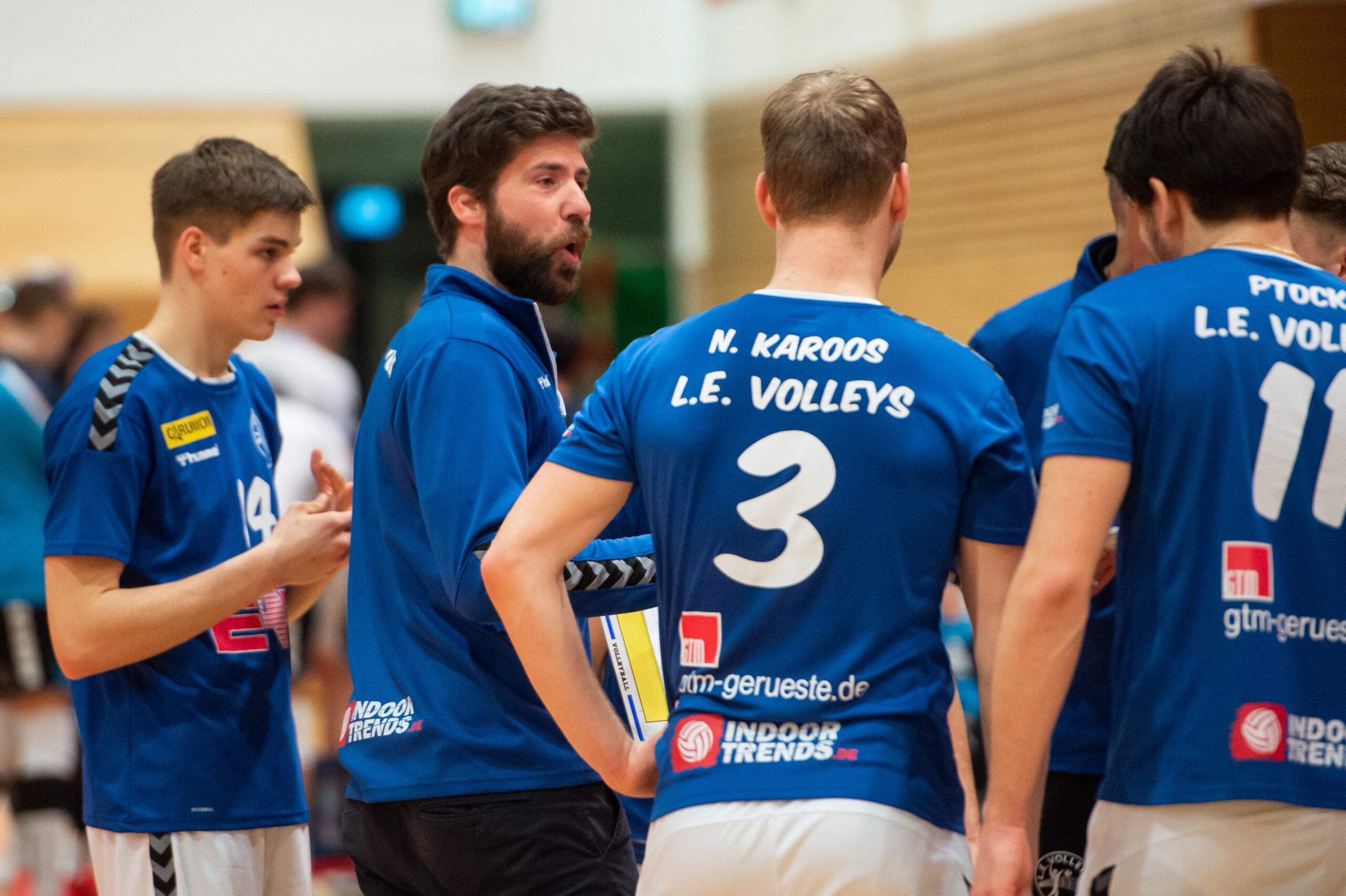 Volleys Trainer Christoph Rascher   L.E. Volleys Leipzig vs TV/DJK Hammelburg, Volleyball, 2.Liga, 20.03.2021