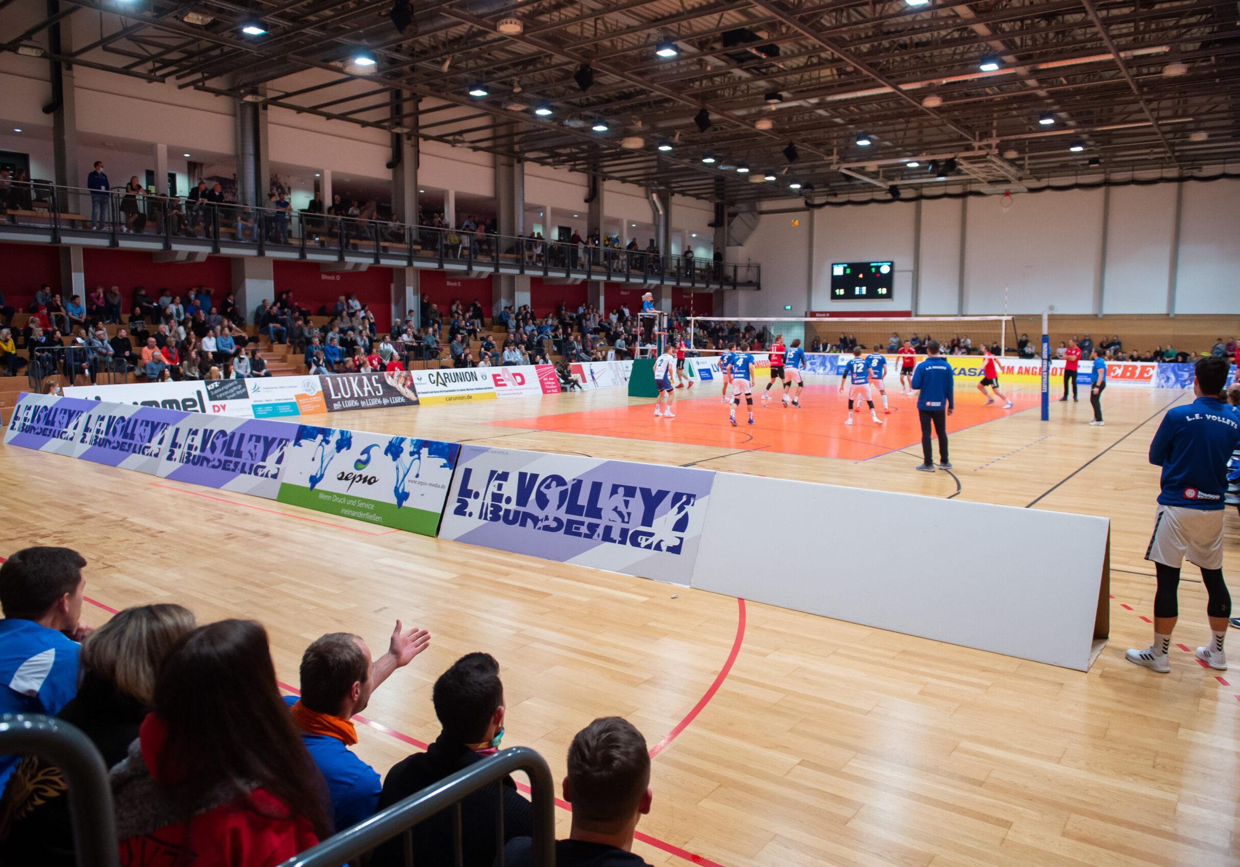 Blick in die HalleSpiel L.E. Volleys Leipzig vs GSVE Delitzsch, Volleyball, 2.Liga, 17.10.2020